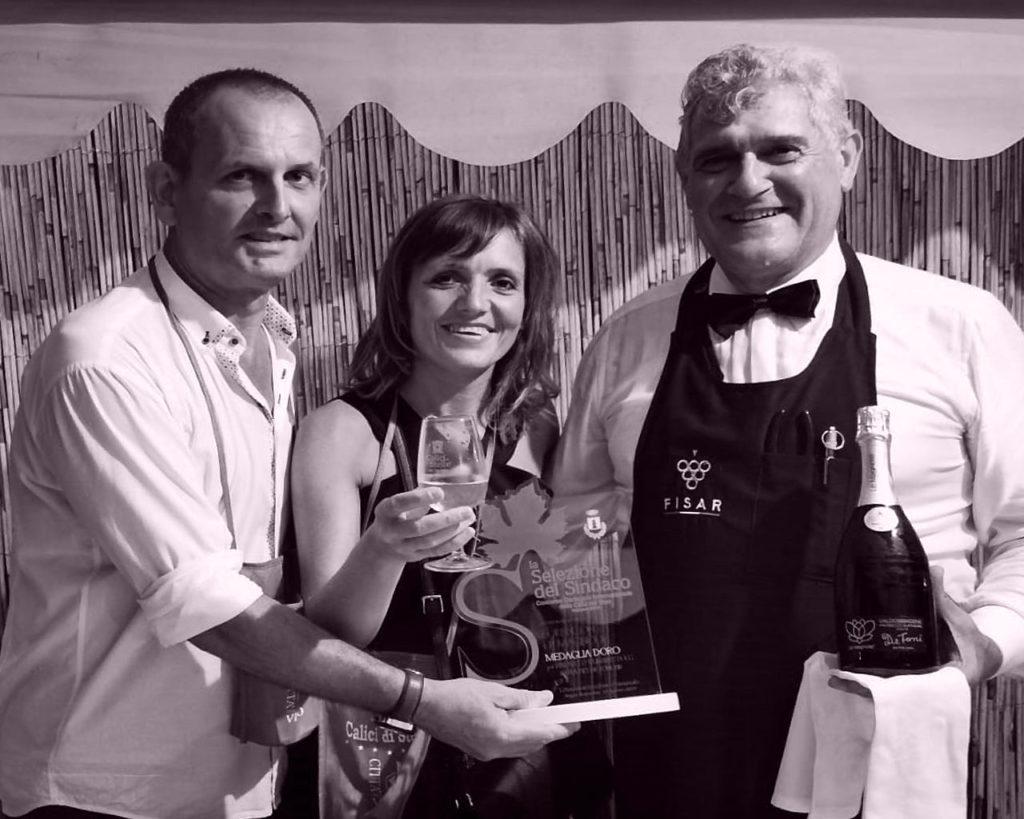 Premiazione con il sindaco - Azienda agricola Le Magnolie
